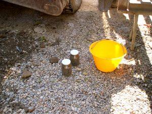 campioni di terreno pronti ad essere spediti in laboratorio